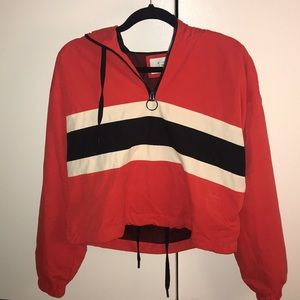Active Colorblock Cropped Hoodie